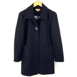 TULLE Nordstrom BP Fitted Black Pea Coat Large CL1